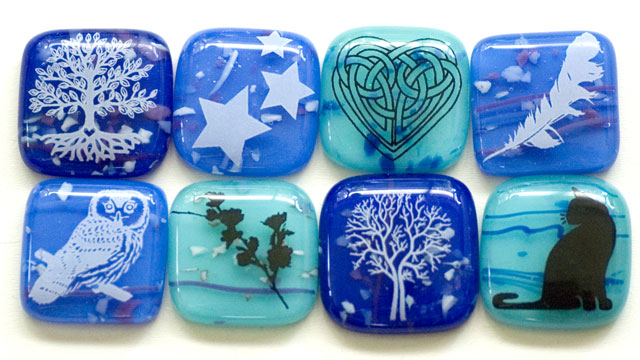 True Blue with Glass Fusing Decals